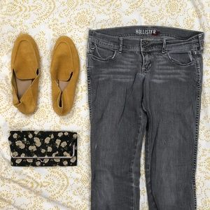Gray Low Rise Hollister Jeans